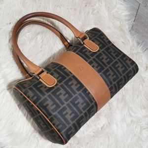 Vintage 1980s Fendi monogram doctor bag satchel